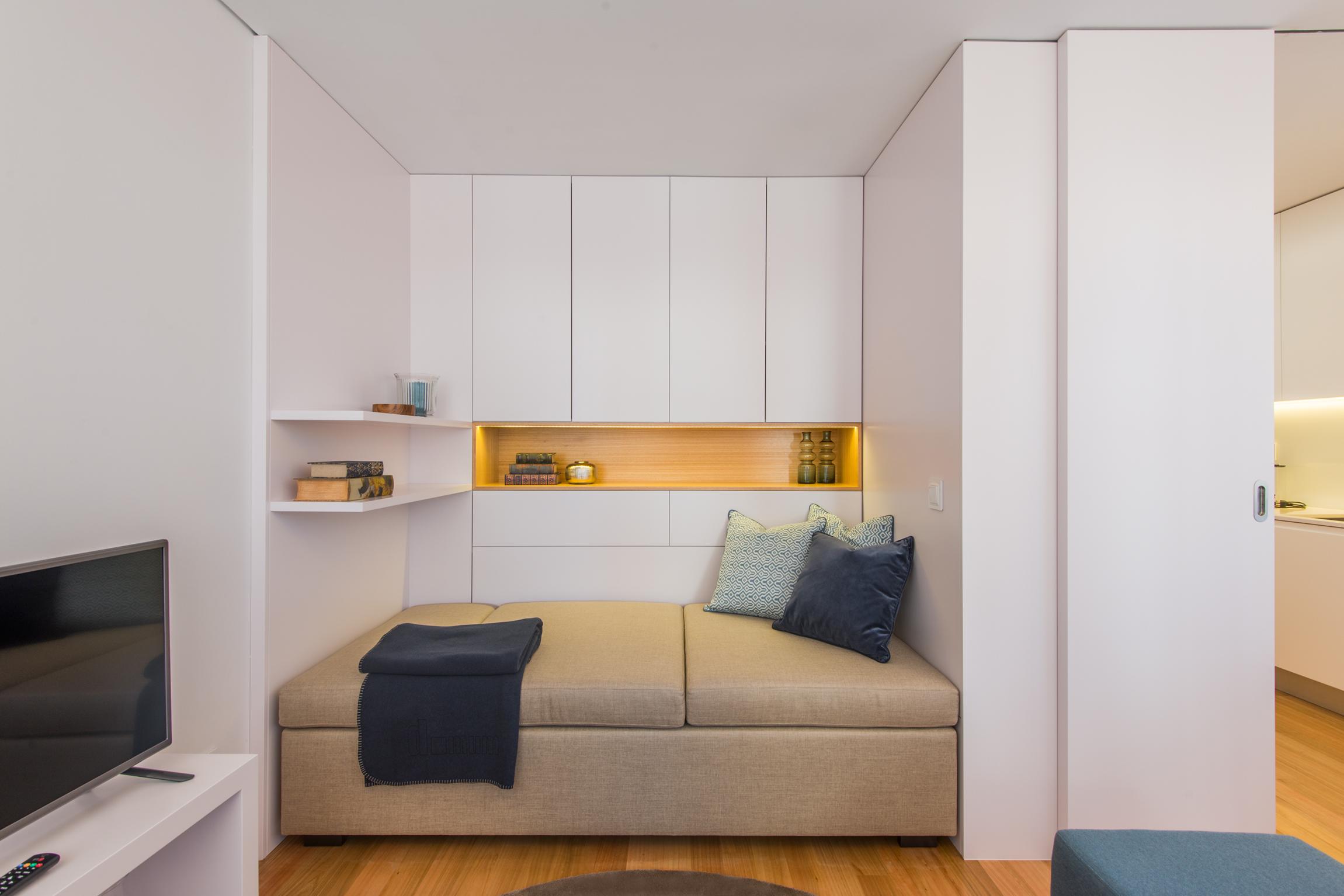 Sofá cama para aprovechar espacio